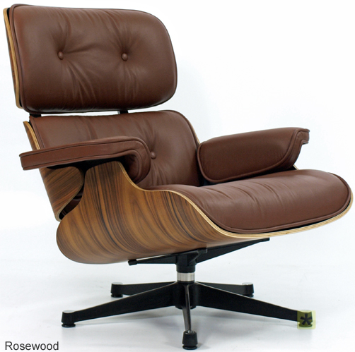 CHARLES EAMES LOUNGE CHAIR AND OTTOMAN IN BROWN LEATHER AND ROSEWOOD EBay