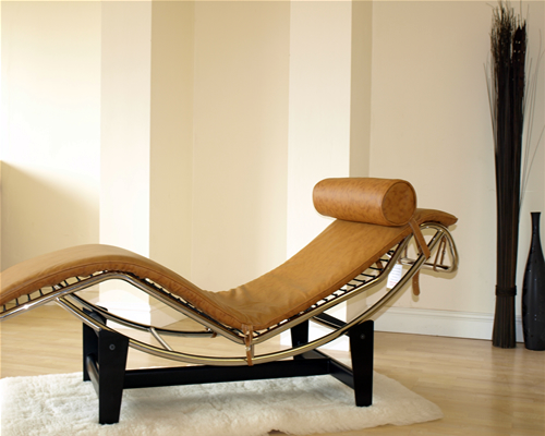 le corbusier lc4 chaise lounge longue recliner tan ebay. Black Bedroom Furniture Sets. Home Design Ideas